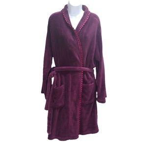 Capelli New York Robe Plush Soft Pockets Purple XL